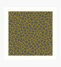 Staklo (Gray/Gold) Art Print