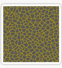 Staklo (Gray/Gold) Sticker