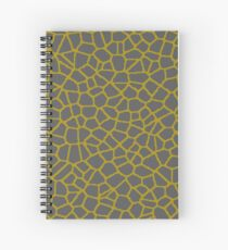 Staklo (Gray/Gold) Spiral Notebook