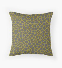 Staklo (Gray/Gold) Throw Pillow
