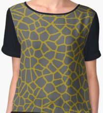 Staklo (Gray/Gold) Chiffon Top
