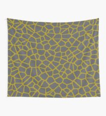 Staklo (Gray/Gold) Wall Tapestry