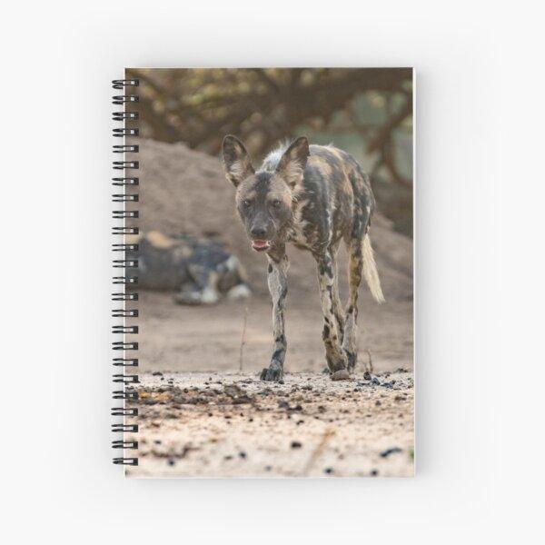 African wild dog Spiral Notebook