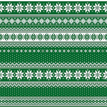 Nordic Scandinavian Christmas Green2 by SSSowers