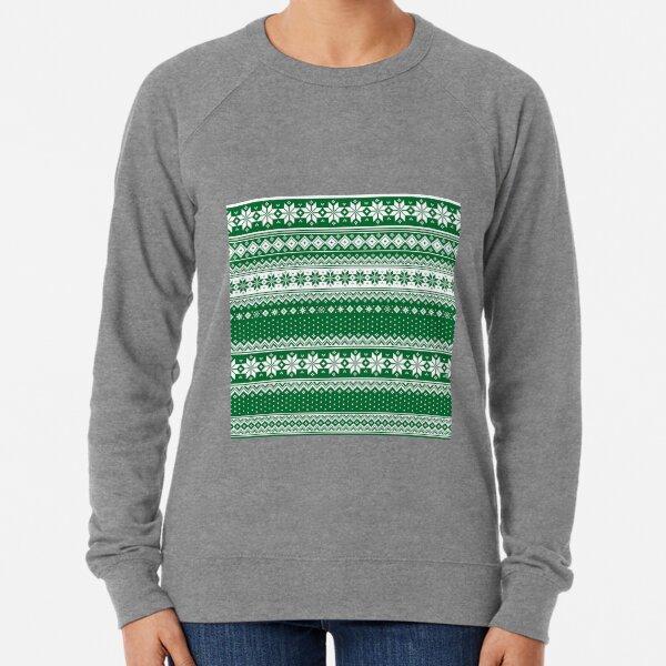 Nordic Scandinavian Christmas Green2 Lightweight Sweatshirt