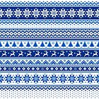 Nordic - Scandinavian Winter Blue by Susan Sowers