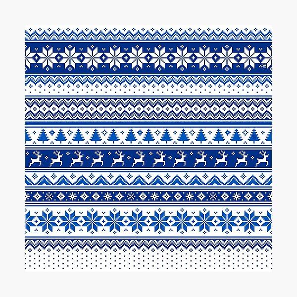 Nordic - Scandinavian Winter Blue Photographic Print