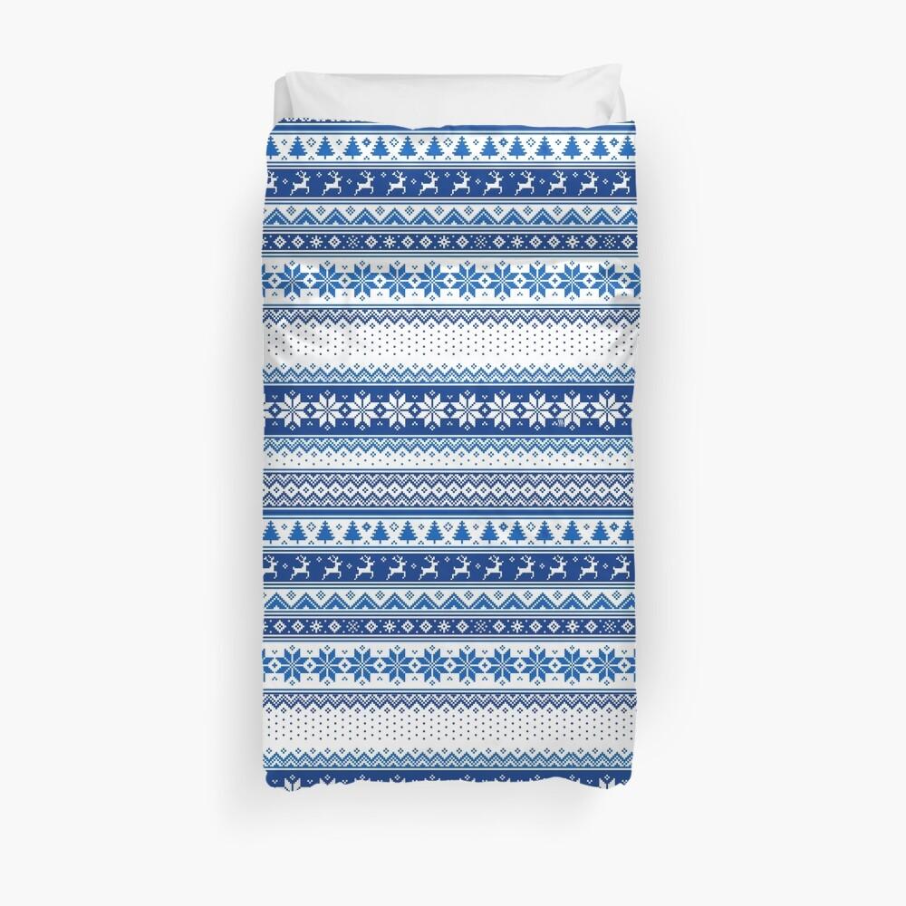 Nordic - Scandinavian Winter Blue Duvet Cover