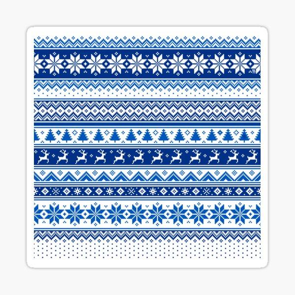 Nordic - Scandinavian Winter Blue Sticker