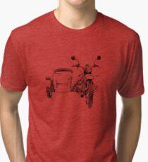 Sidecar motorcycle Tri-blend T-Shirt