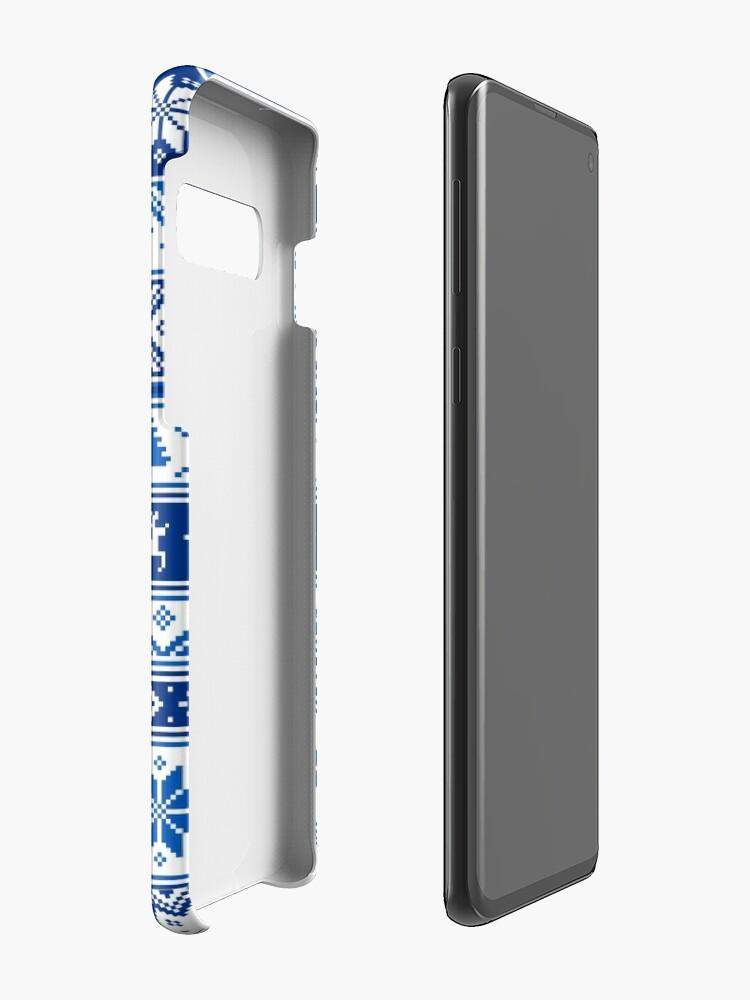 Alternate view of Nordic - Scandinavian Winter Blue Case & Skin for Samsung Galaxy