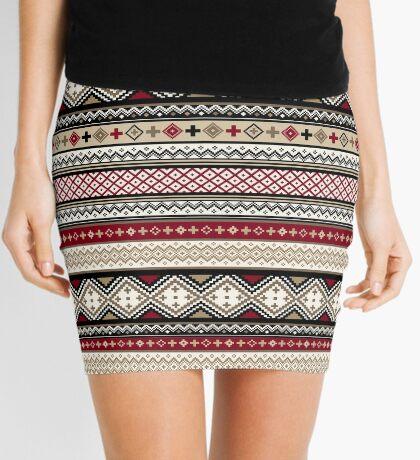 Fair Isle Christmas - warm Mini Skirt