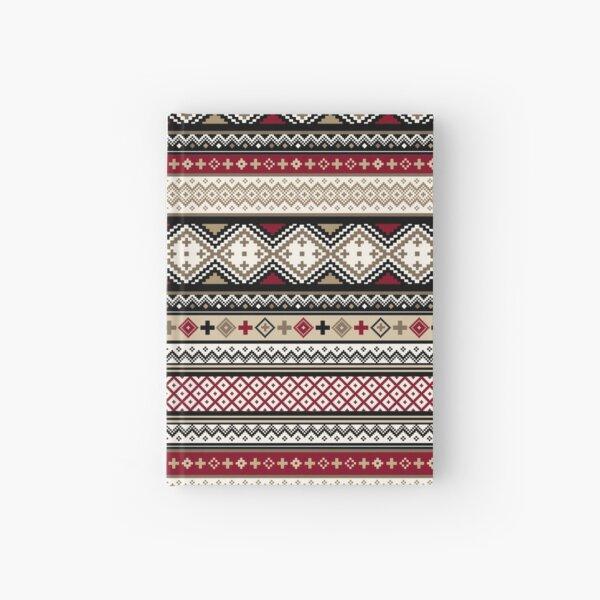 Fair Isle Christmas - warm Hardcover Journal