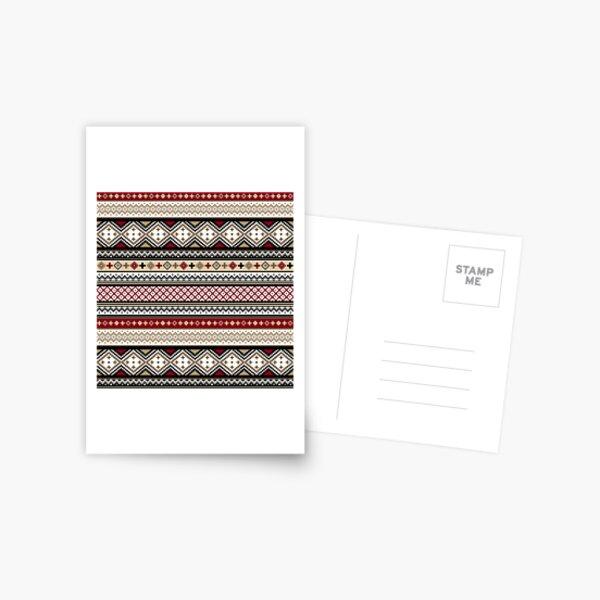 Fair Isle Christmas - warm Postcard