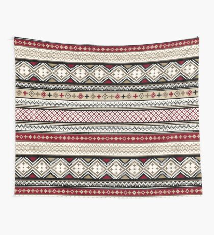 Fair Isle Christmas - warm Wall Tapestry