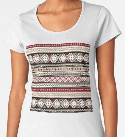 Fair Isle Christmas - warm Women's Premium T-Shirt