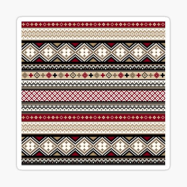 Fair Isle Christmas - warm Sticker