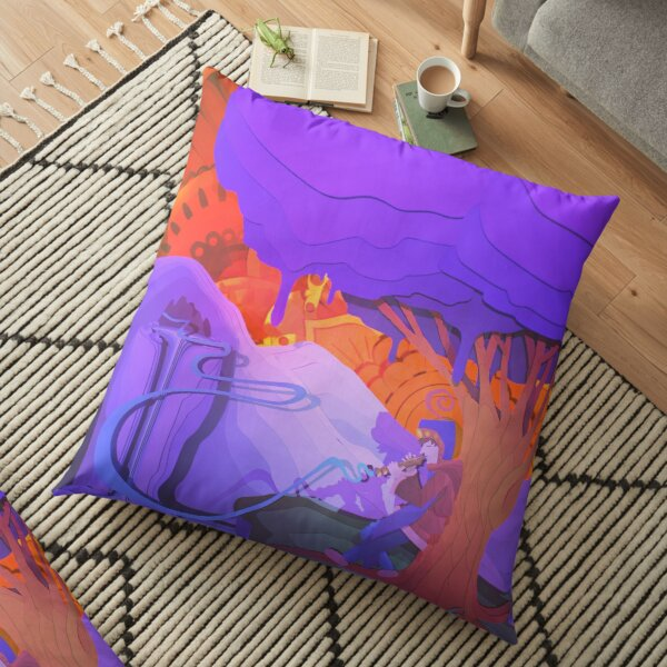 The Flautist's Serenade  Floor Pillow