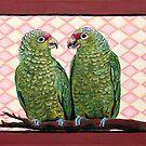 Green Parrots by Julie Ann Accornero