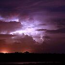 Lightning bolt over Broome by adouglas