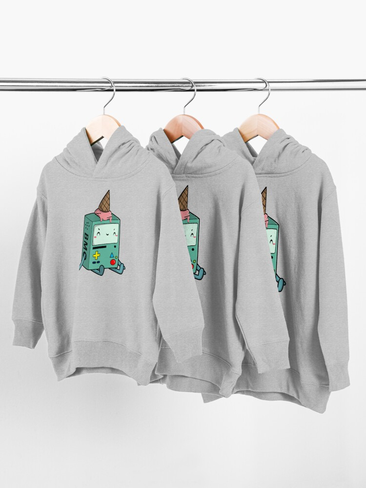 Alternate view of BMO adventure time Toddler Pullover Hoodie