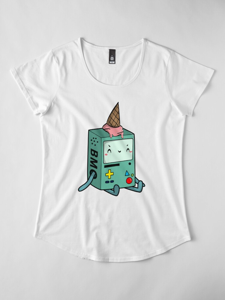 Alternate view of BMO adventure time Premium Scoop T-Shirt