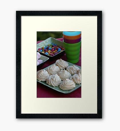 Kids Party -  Vanilla Meringues Framed Print