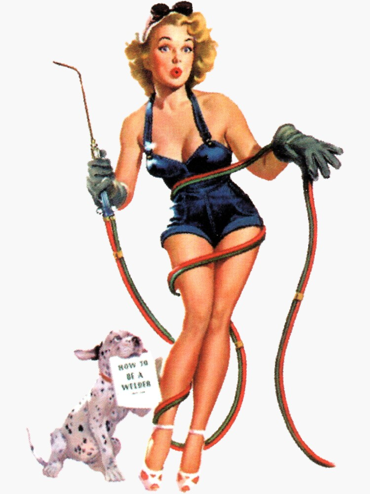 Vintage Sexy Welder Pinup Girl by hilda74