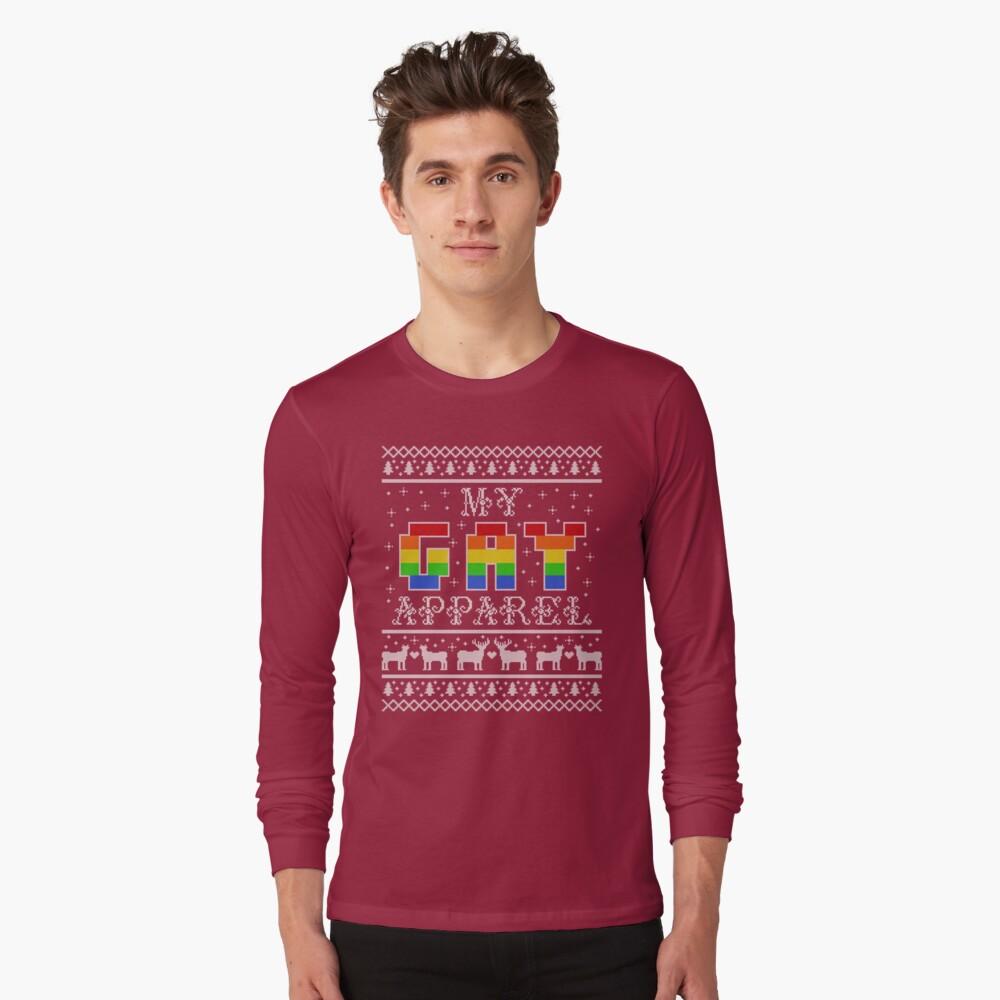 My Gay Apparel Holiday Sweater Long Sleeve T-Shirt