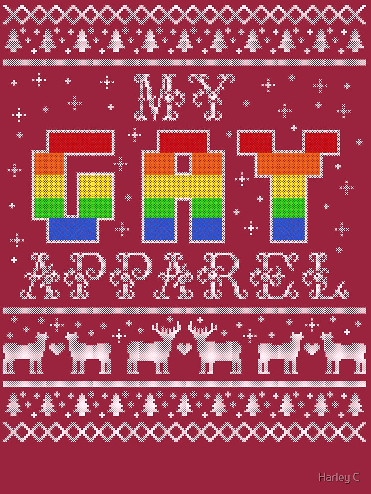 My Gay Apparel Holiday Sweater by Fandom-Mused