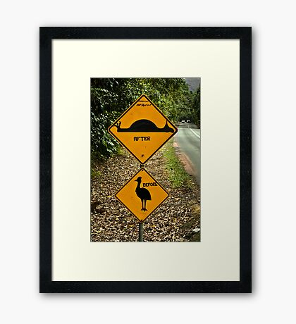Chill out, NOT flat out Framed Print