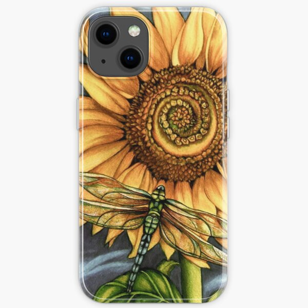 dragonfly Sunflower iPhone Soft Case