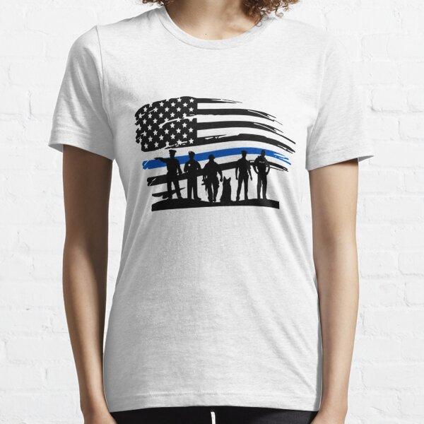 Thin Blue Line American Flag Back the blue Essential T-Shirt