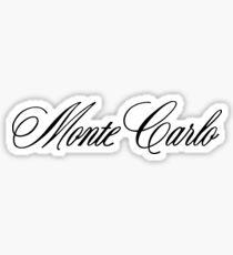 Chevrolet Monte Carlo Script Sticker
