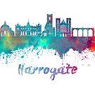 Harrogate skyline in watercolor by paulrommer