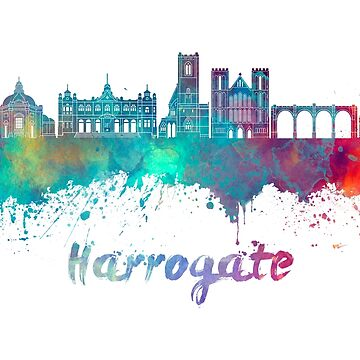 Harrogate skyline in watercolor by paulrommer
