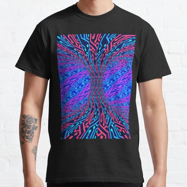 Neon Torus 3D Render (Alternate Color) Classic T-Shirt