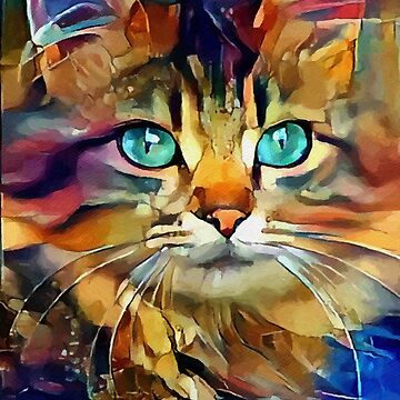 Gringo, Lea Roche paintings, cat, cat, gato by LEAROCHE
