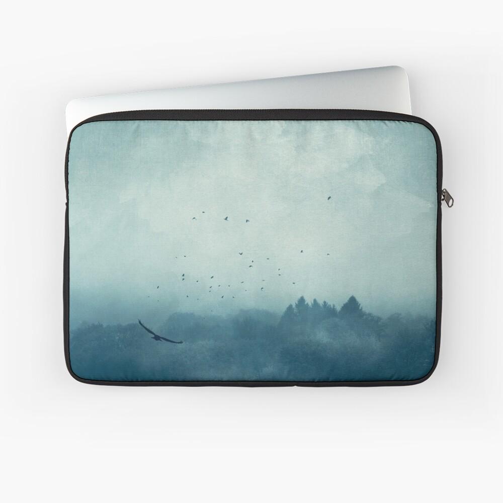 Flight Home - Mist over Landscape Laptop Sleeve