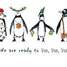 Christmas penguins ready to ho ho ho by Carmen de Bruijn