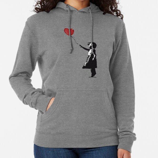 Banksy Girl con corazón globo graffiti arte callejero Balloon Girl HD TIENDA ONLINE DE ALTA CALIDAD Sudadera ligera con capucha
