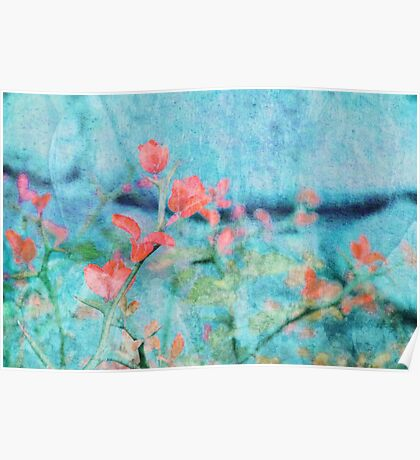 Blossom and Leaves Poster