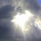 And a hole opened up in the sky and the light shone down... by Christine Oakley