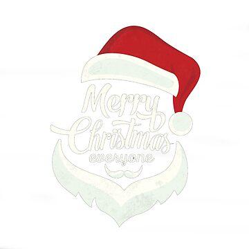Xmas T-shirts - Santa shirt Merry Christmas by AleksanderLamek