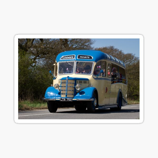1950s Bedford Vintage Bus / Coach Sticker