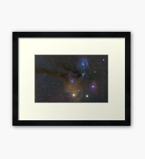 Antares and Rho Ophiuchi region nebulae Framed Print