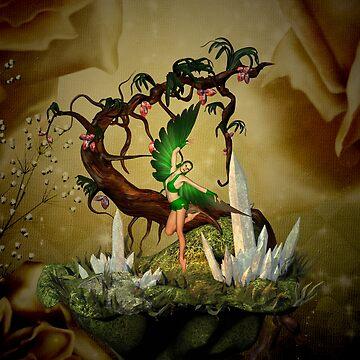 Wonderful fairy with fantasy tree by nicky2342