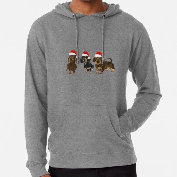 Weihnachtsdackel Leichter Hoodie