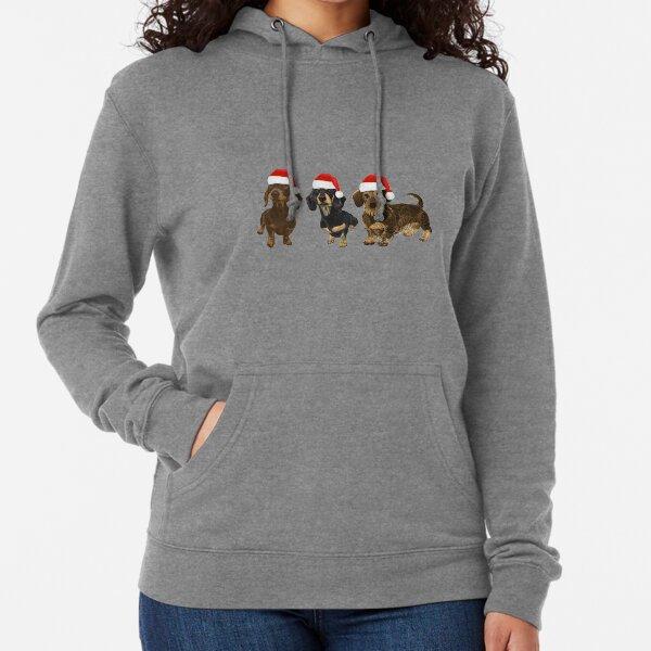 Christmas Dachshunds Lightweight Hoodie