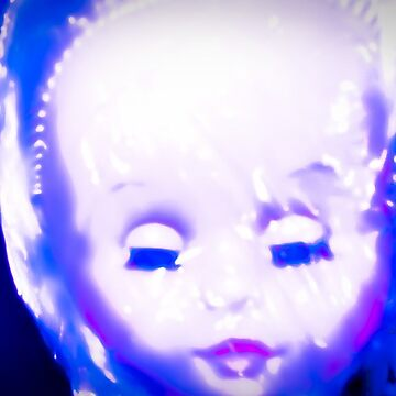 big doll head with lowered eyes by kimmilesfilms